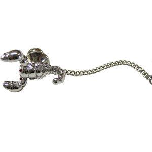 Silver Toned Scorpion Tie Tack